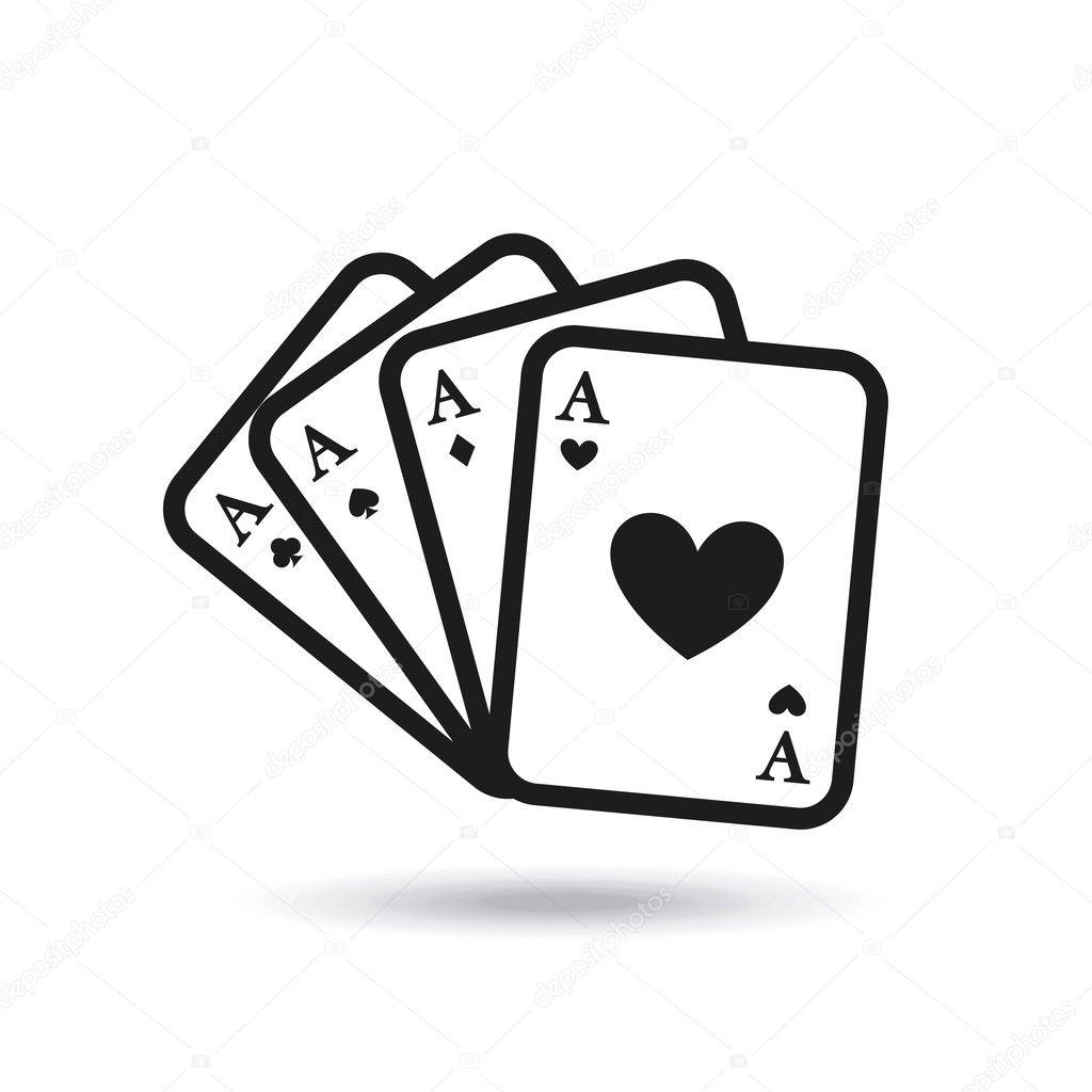 Dibujos Cartas De Poker Casino Juego De Poker Cartas Vector De
