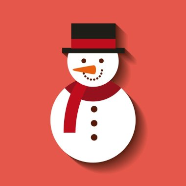 merry christmas snowman character icon