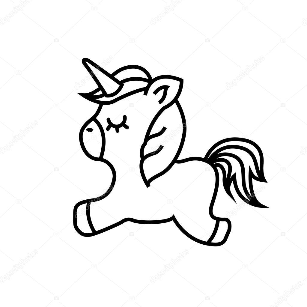 drawing unicorn icon stock vector 169 yupiramos