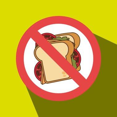 sandwich fast food unhealth prohibited