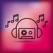 Fényképek zene szórakozás sor ikon