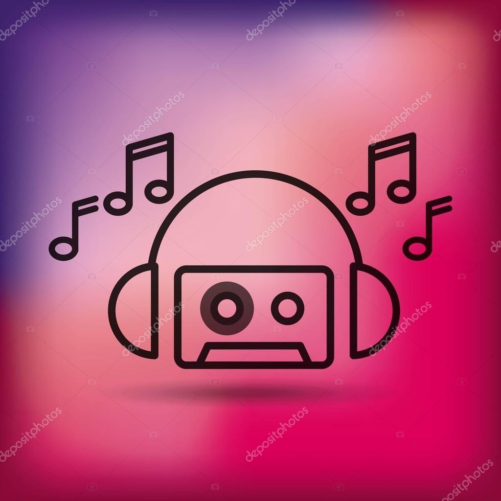 music entertainment line icon