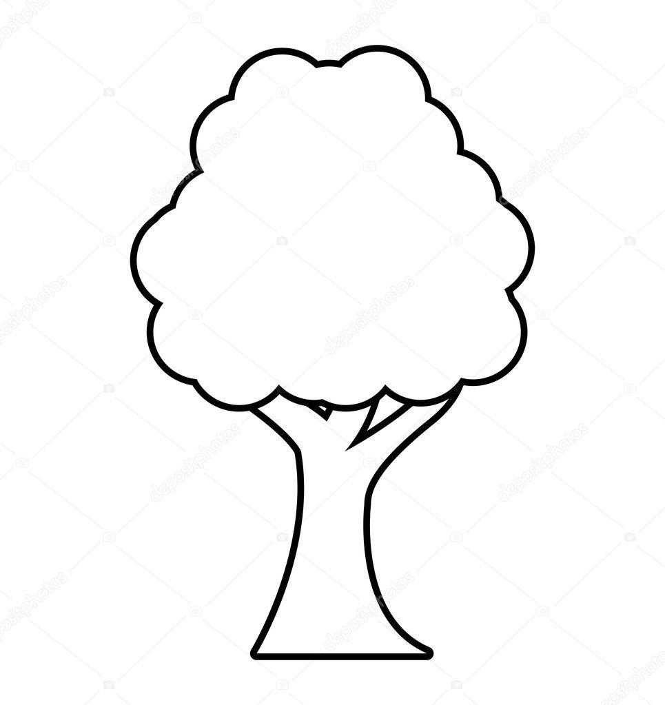 木植物森林白黒分離アイコン ストックベクター Yupiramos 126054974