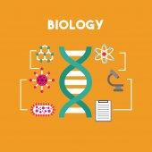 biológiát és a tudomány oktatási vonal ikon