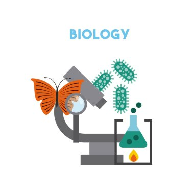 biology and science education line icon