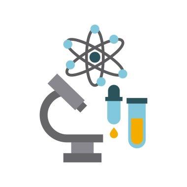 microscope laboratory scientific line icons