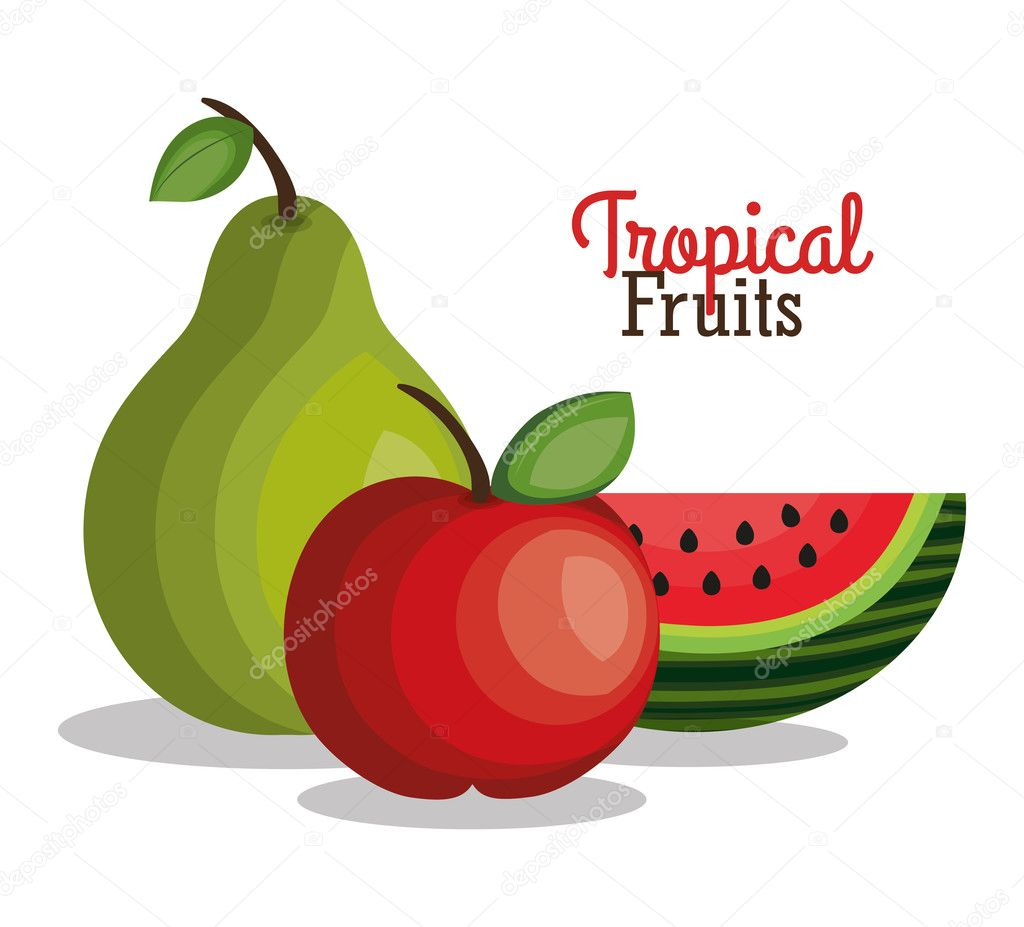 tropical fruits fresh banner