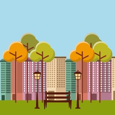 "Картина, постер, плакат, фотообои ""иконка городского пейзажа "", артикул 126401174"