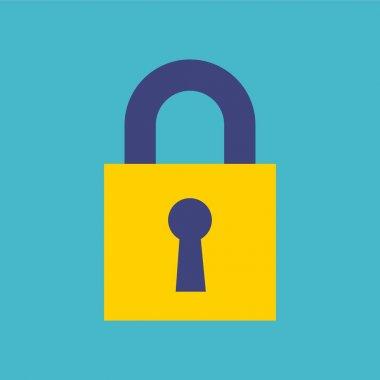 security padlock flat icon