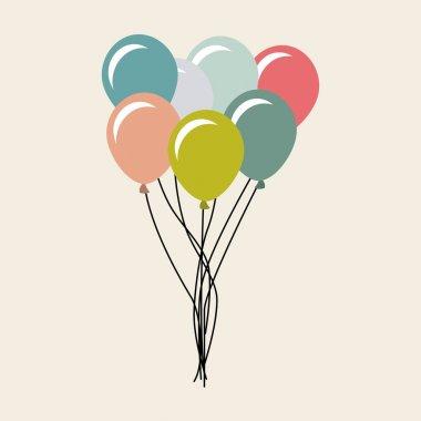 Balloons air party celebration vector illustration design stock vector