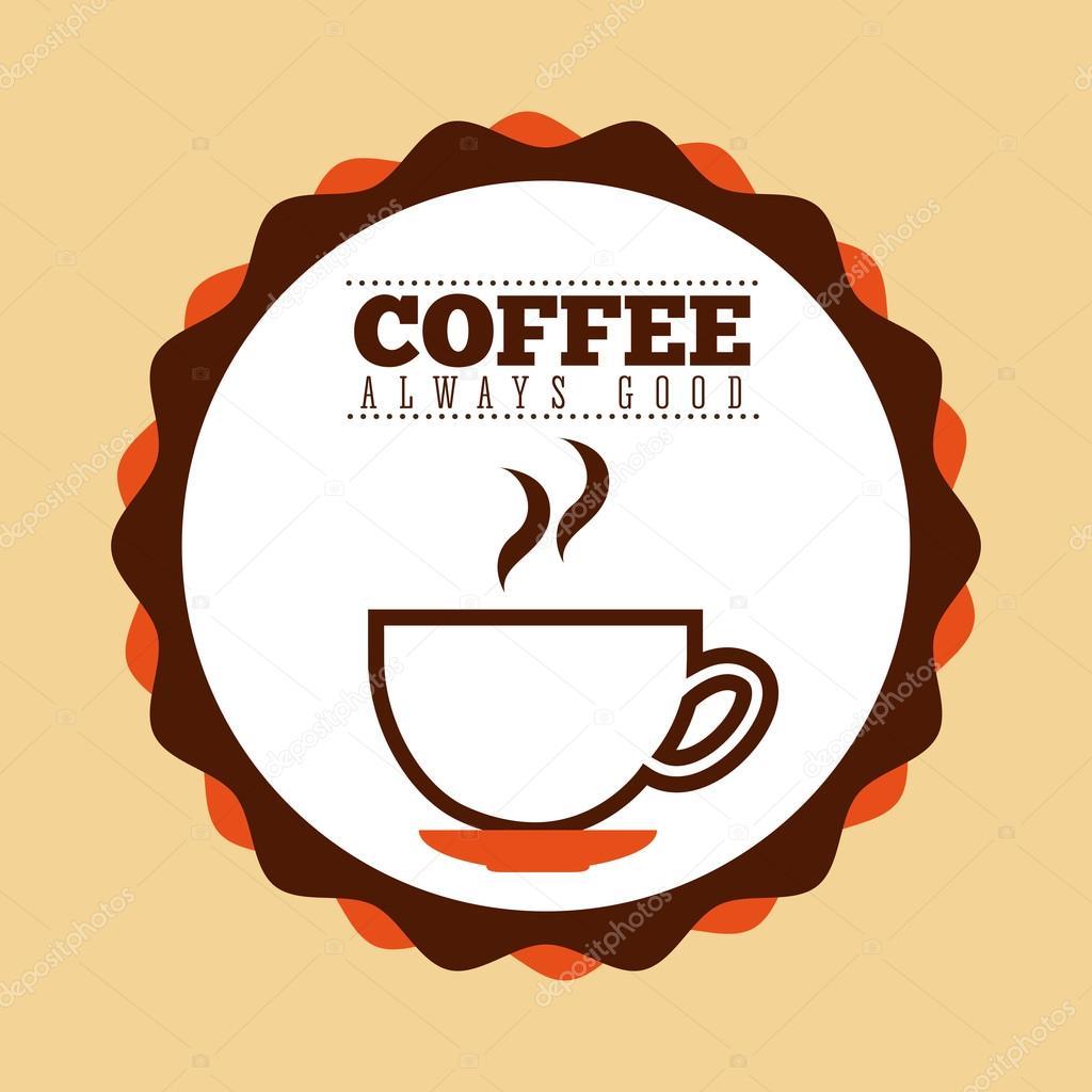 coffee always good stamp