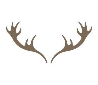 horns reindeer isolated icon