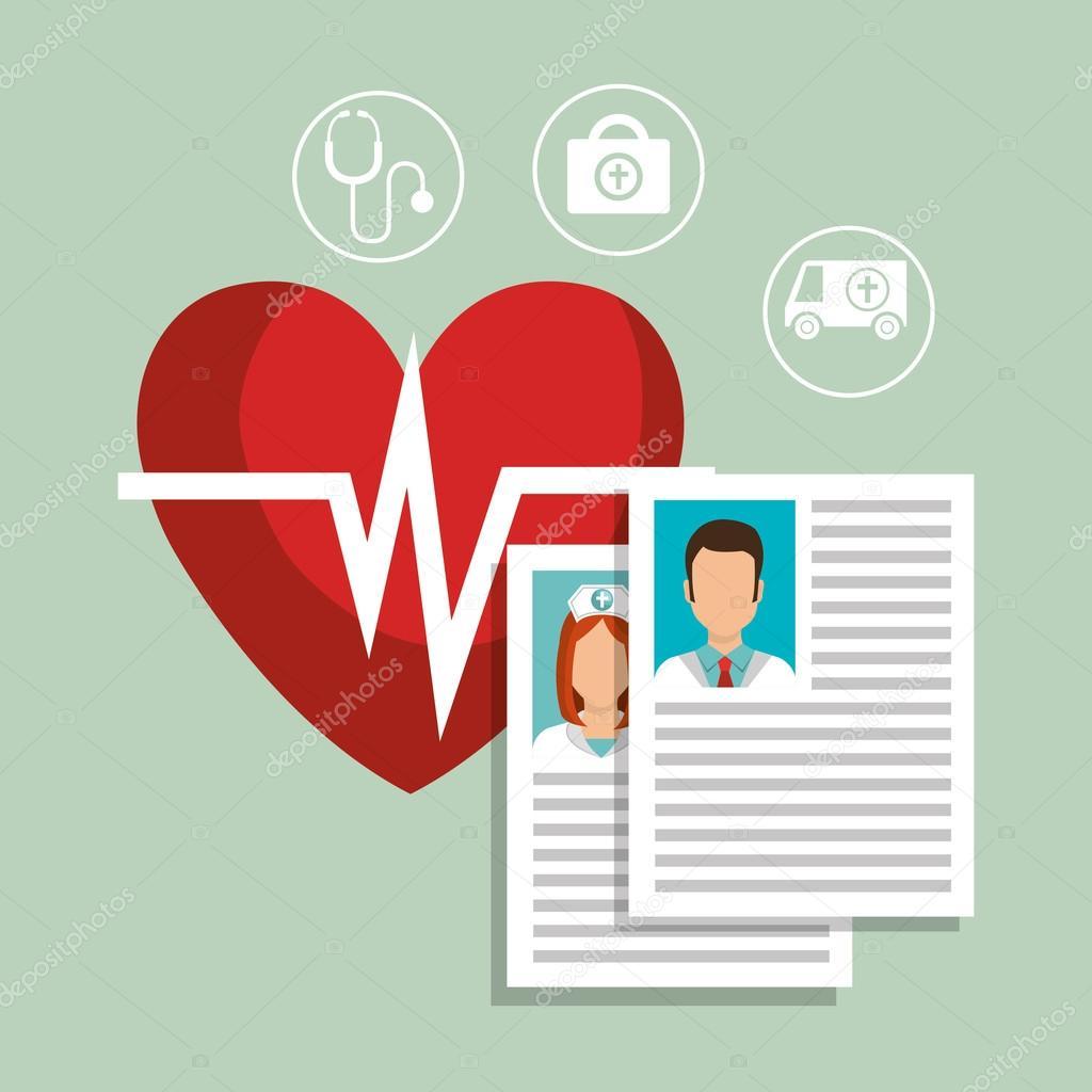 currículum médico — Vector de stock © yupiramos #127117962