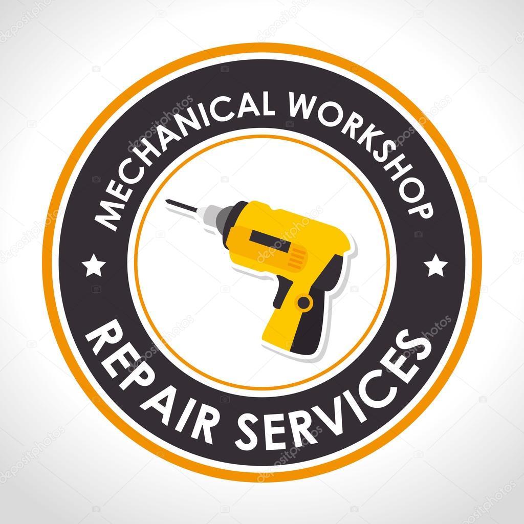 Repair services design — Stock Vector © yupiramos #127119022