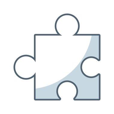 puzzle piece game line icon
