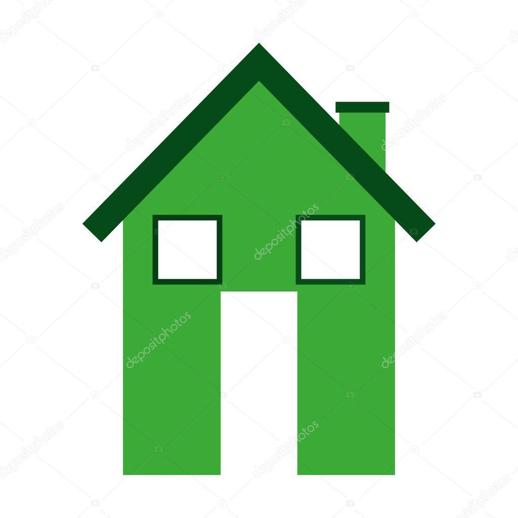eco house isolated icon