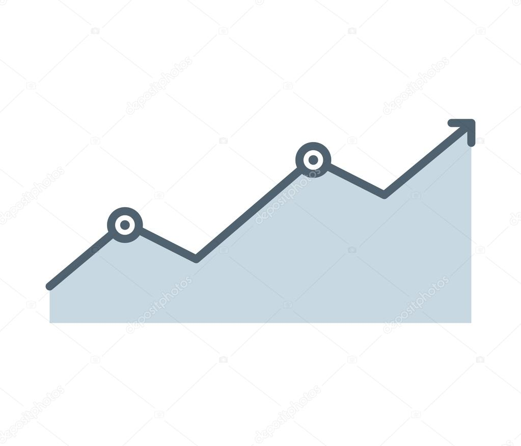 arrow growth graphic icon