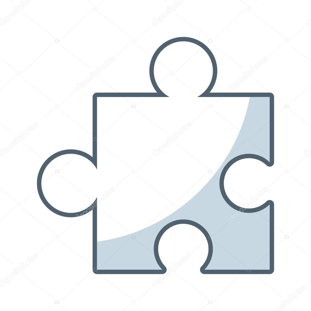 puzzle piece game line icon
