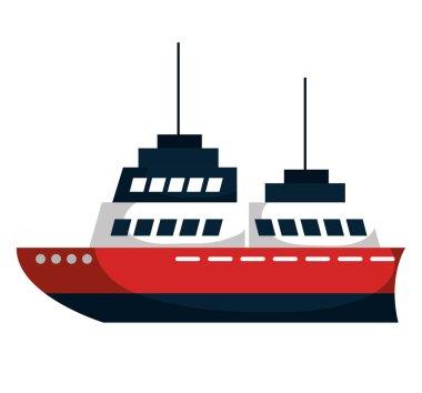 cruise ship isolated icon
