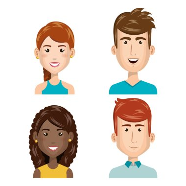 young people set avatars
