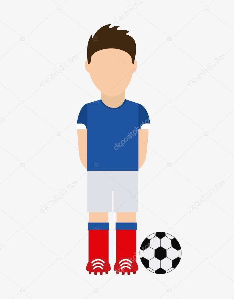 Depositphotos 127237534 stock illustration french soccer player avatar