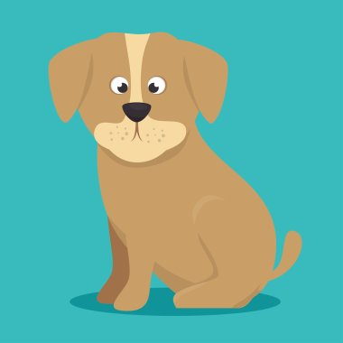 puppy beige color icon background