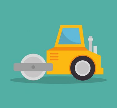 steamroller construction icon design