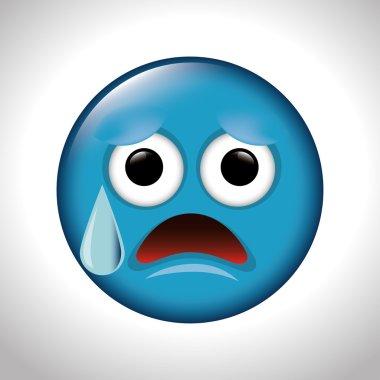 sad and anguish face emoticon