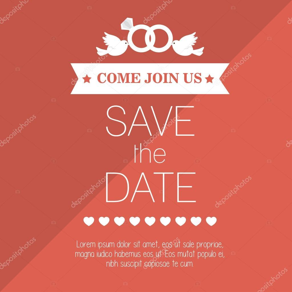 wedding invitation save the date design graphic — Stock Vector ...