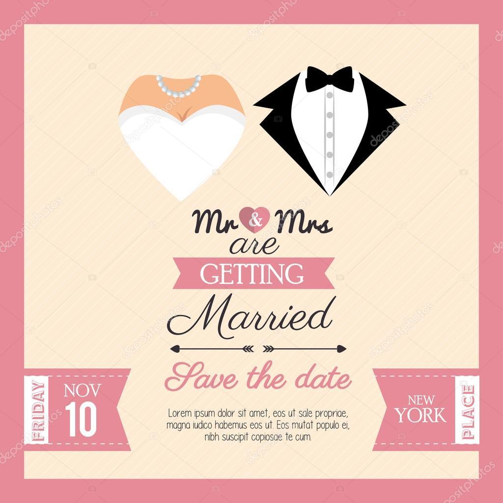 wedding invitation concept card
