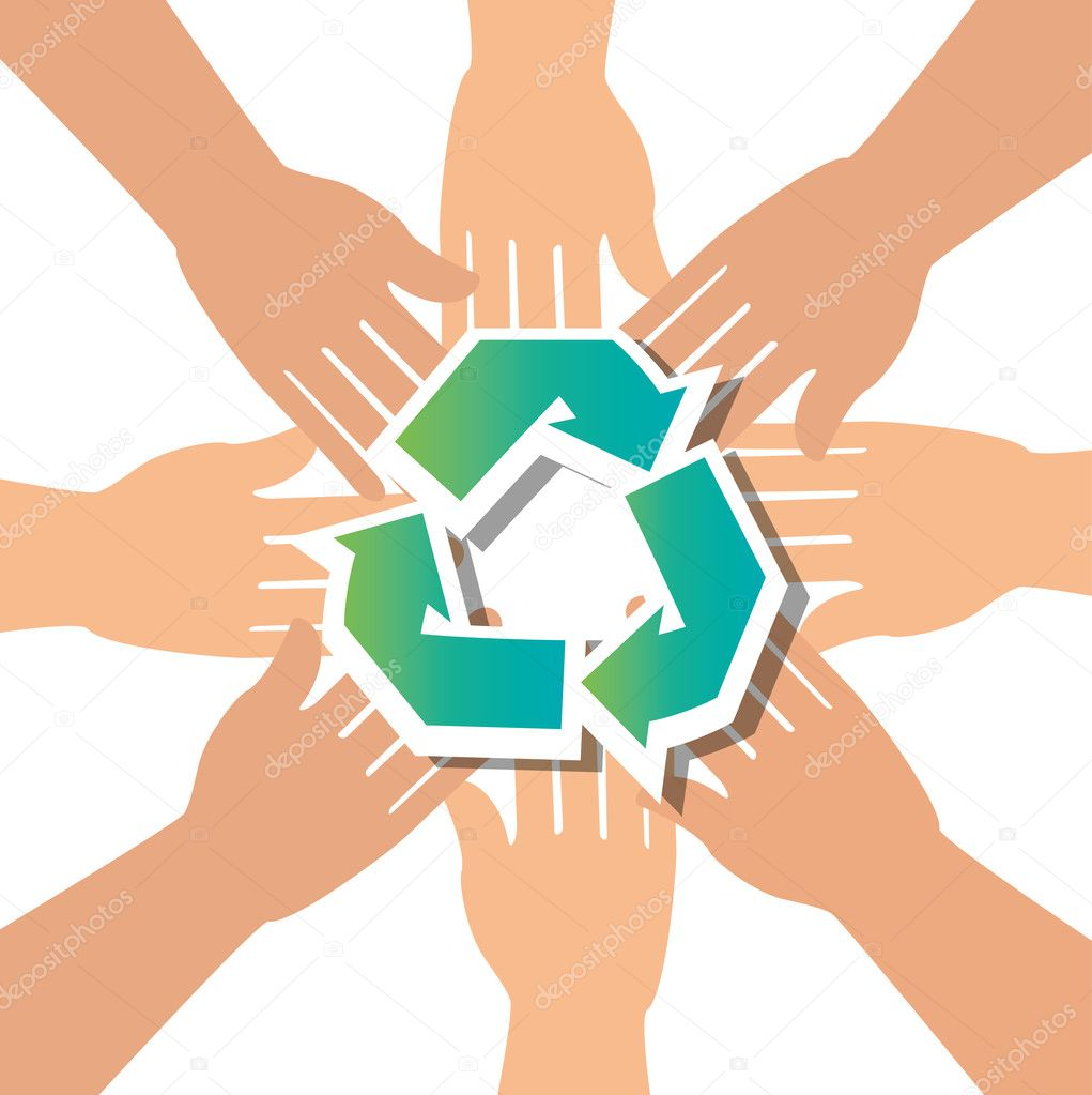 recycle concept hand unity group