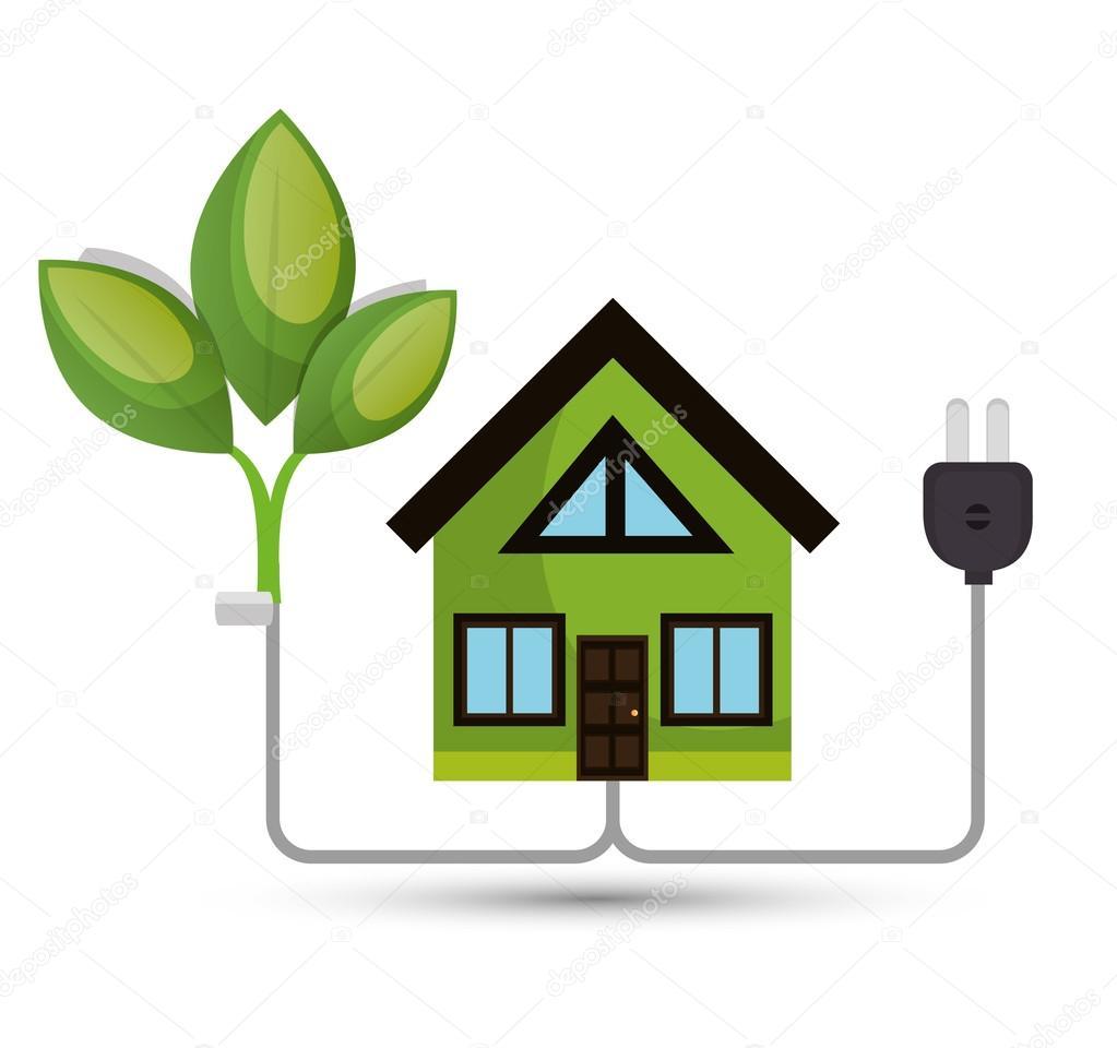 environmental concept house tree energy