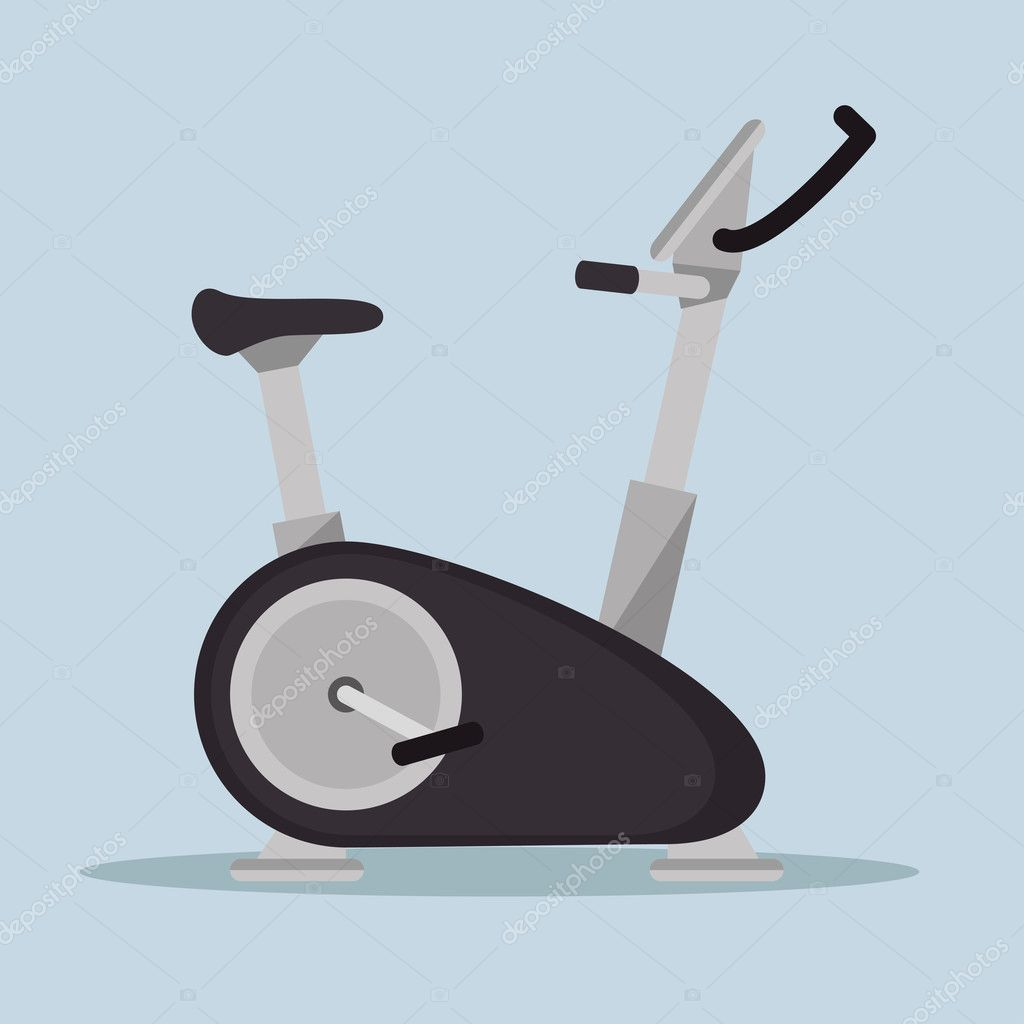 statische Fahrrad-Fitness-Sport-Symbol — Stockvektor © yupiramos ...