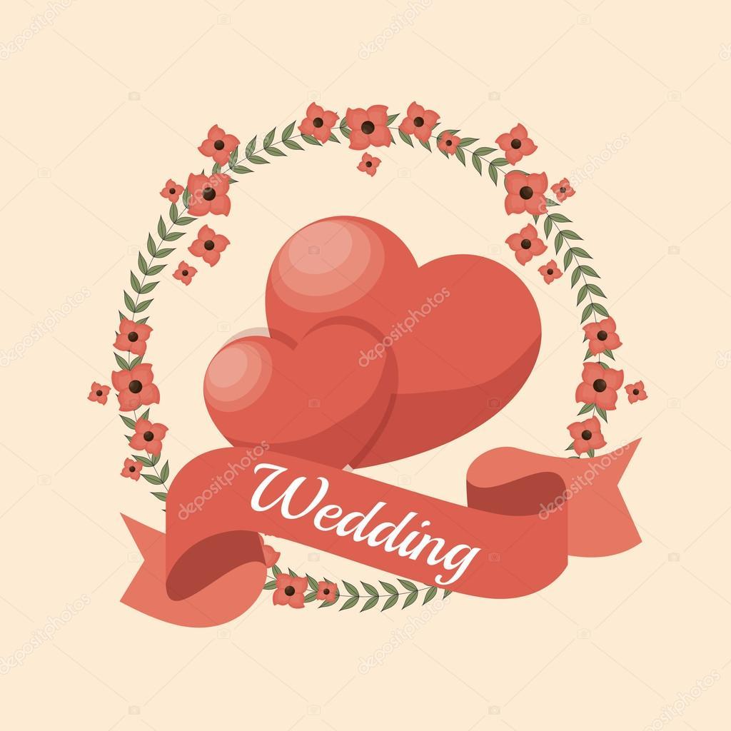 wedding invitation card icon — Stock Vector © yupiramos #127589568