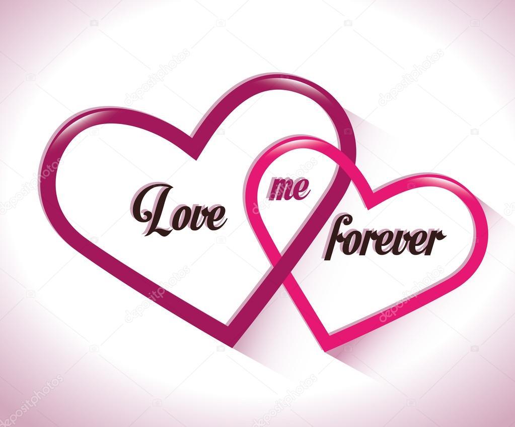 Zwei Ineinander Verschlungene Herzen Liebe Mich Für Immer