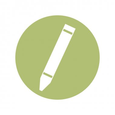 color crayon isolated icon