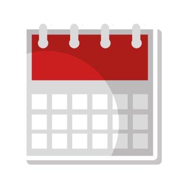 calendar reminder flat line icon