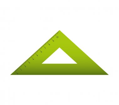 rule triangle isolated icon