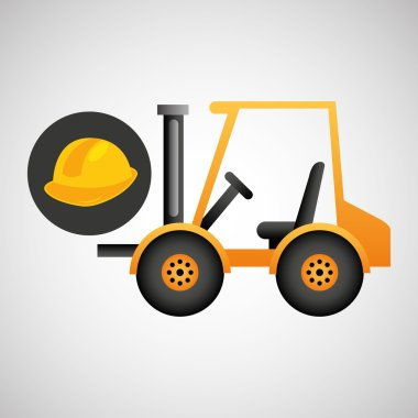 forklift truck construction helmet icon graphic
