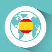 Fotografie Spanien-Flagge-Pin-Karte-design