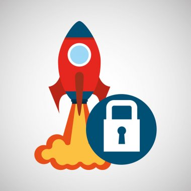 rocket launch start up business security graphic