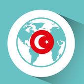 Fotografie Türkei-Flagge-Pin-Karte-design
