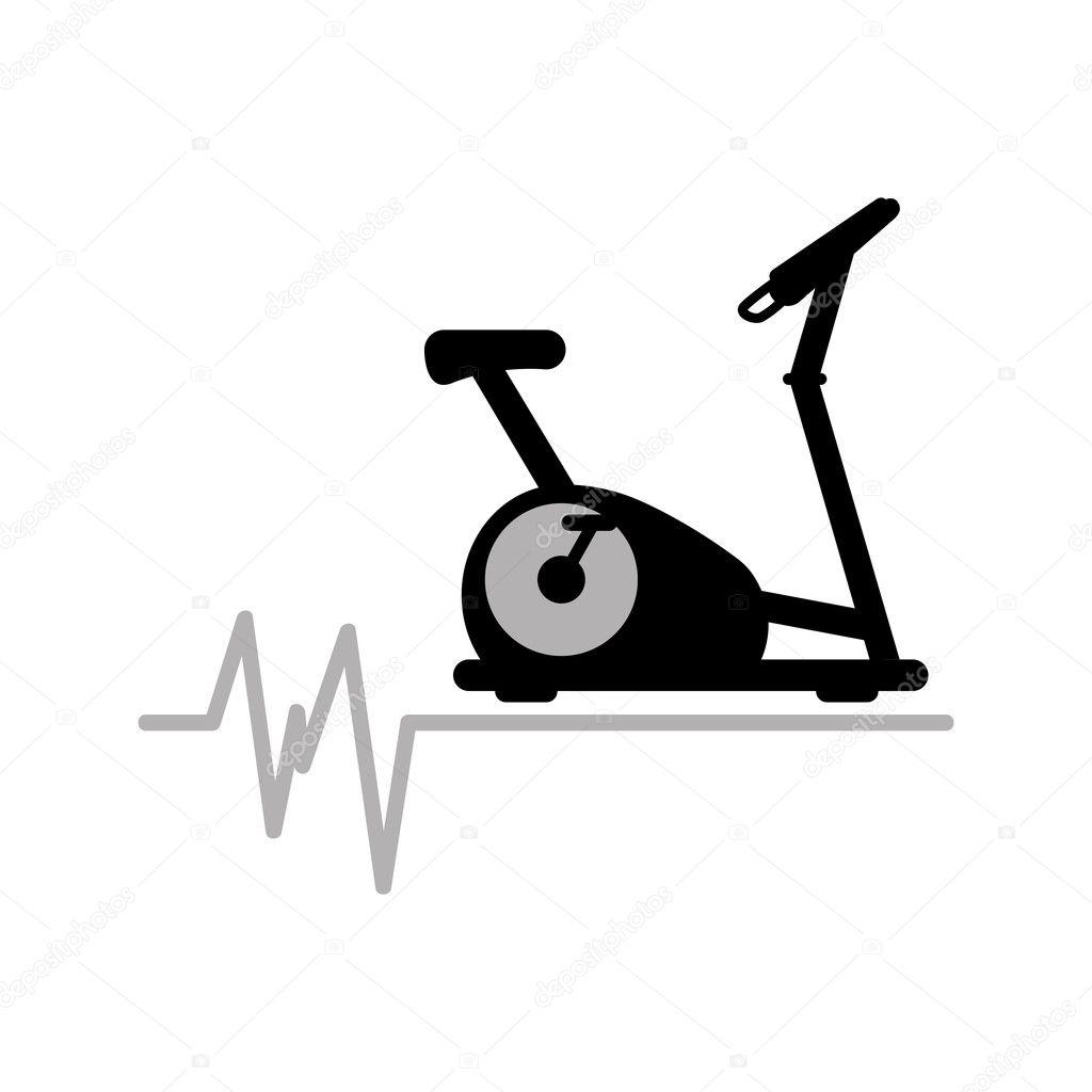 statische Fahrrad Maschine Gym, Rate-Hintergrund-Icon-design ...