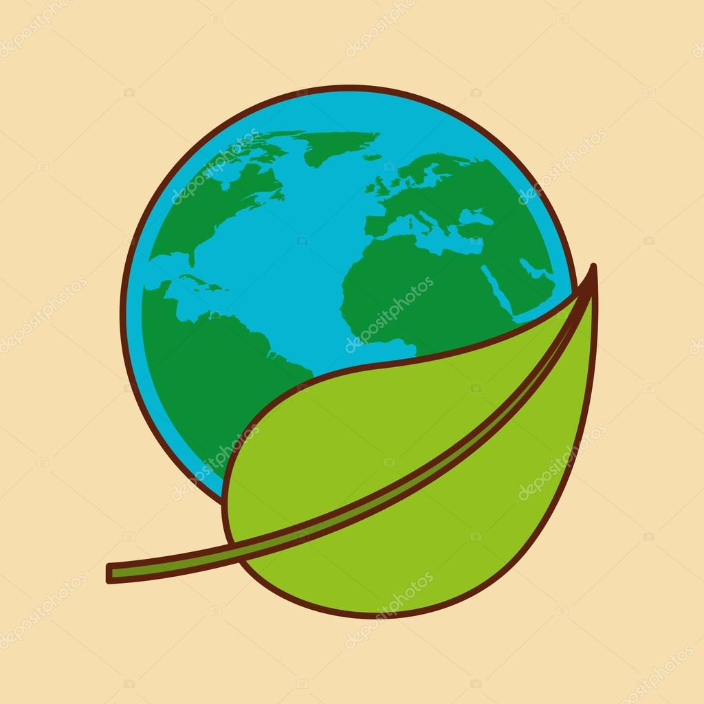 planet earth ecology symbol