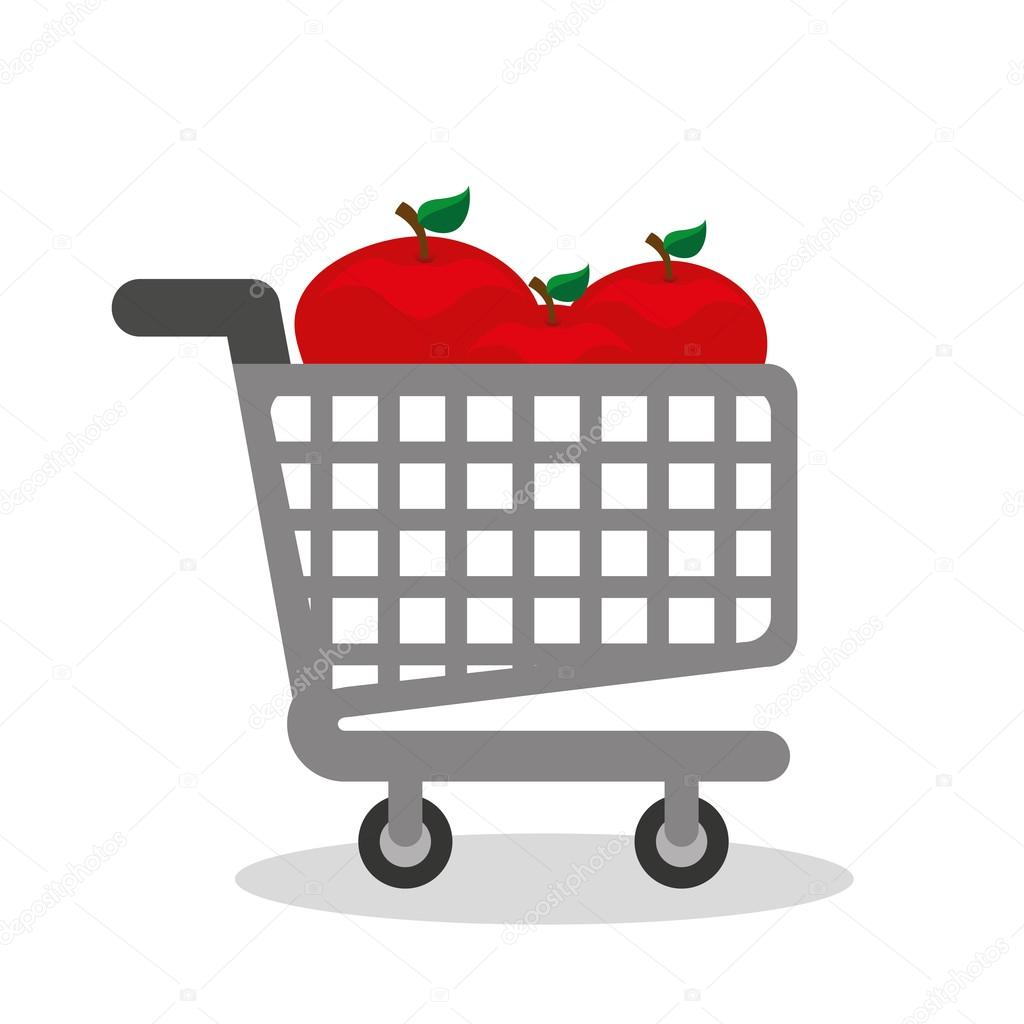 shopping cart with vegetarian food
