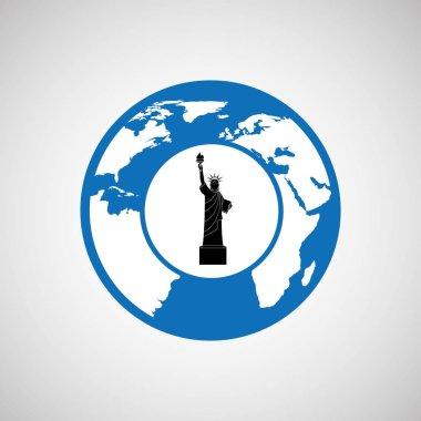 traveling world new york monument design graphic