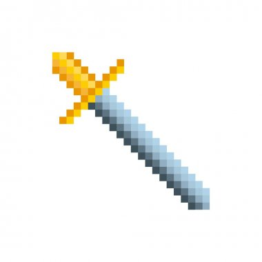 video game sword pixelated icon