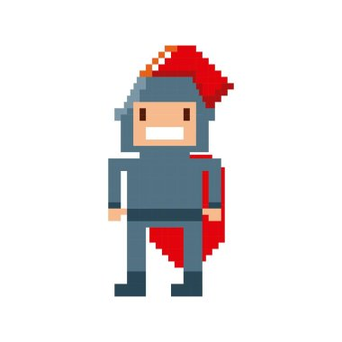warrior video game pixelated