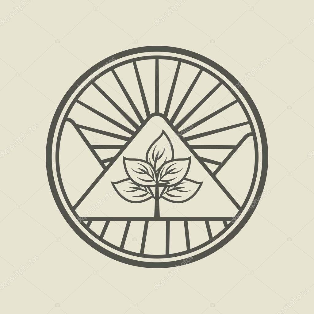 agriculture production emblem icon