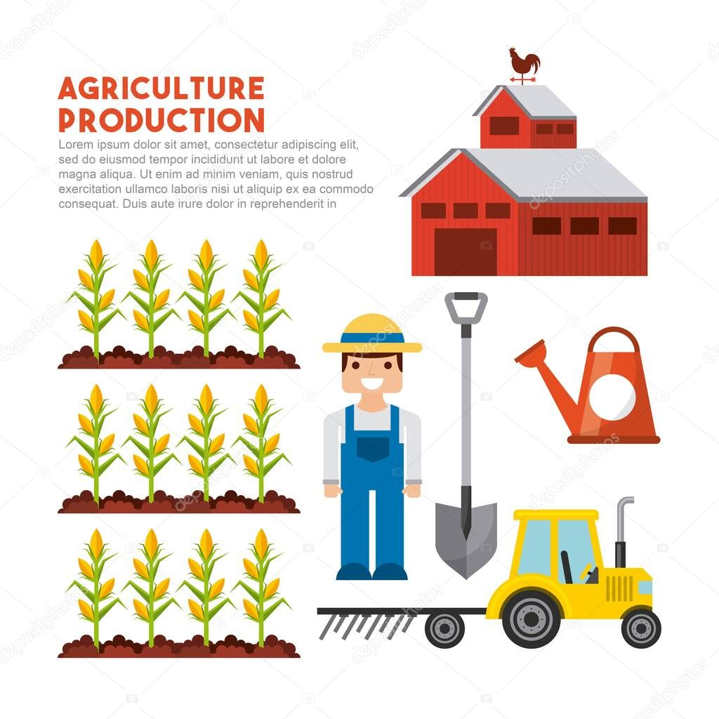 agriculture production landscape icon